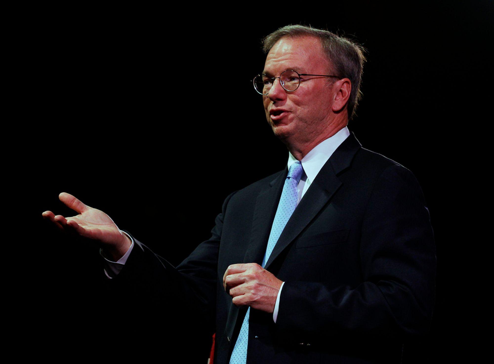 KRITISK: Styreleder Eric Shmidt i Google mener Storbritannia satser altfor lite på realfag og teknologi.