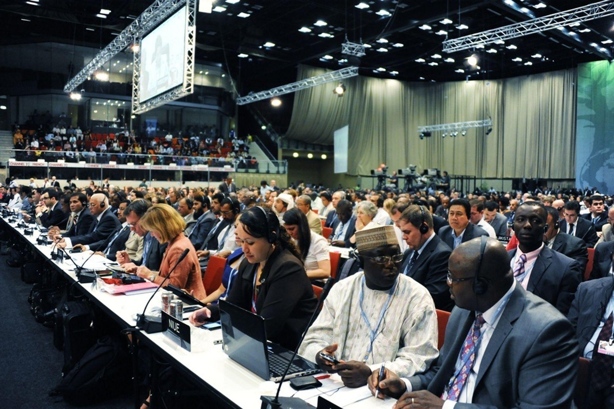 OBSERVATØR: Frem til 9. desember er utsendinger fra 200 land samlet i Sør-Afrika på FNs klimatoppmøte. Her har it-selskapet Steria og Olaf Thommessen fått rollen som observatør.