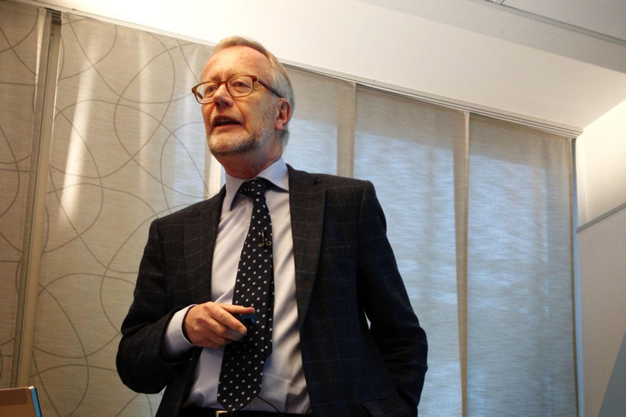 PESSIMIST: Sjeføkonom Tor Steig i NHO tror kun på to prosent vekst i 2012.