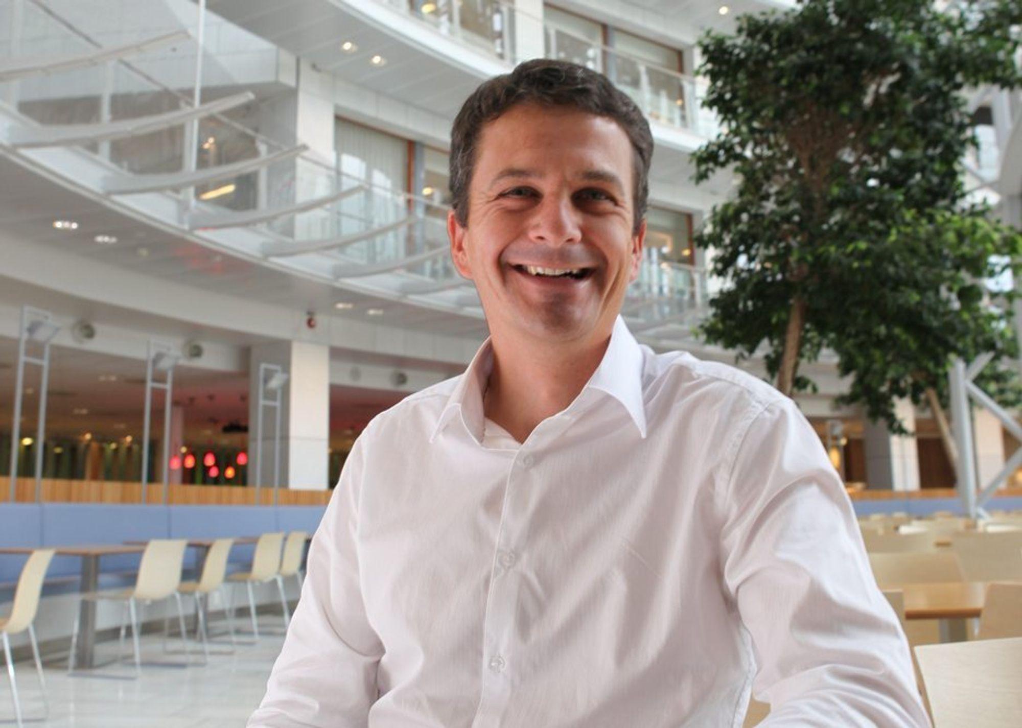 GOD LØSNING: David Brown jobbet nesten 20 år med elbilutvikling i Think før han gikk over til oljeindustrien. I dag jobber han hos Aker Solutions.