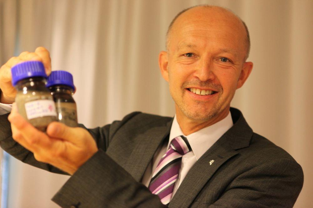 TILFREDS: Statoils konserndirektør for leting, Tim Dodson, er strålende fornøyd med oljen fra Aldous/Avaldsnes.