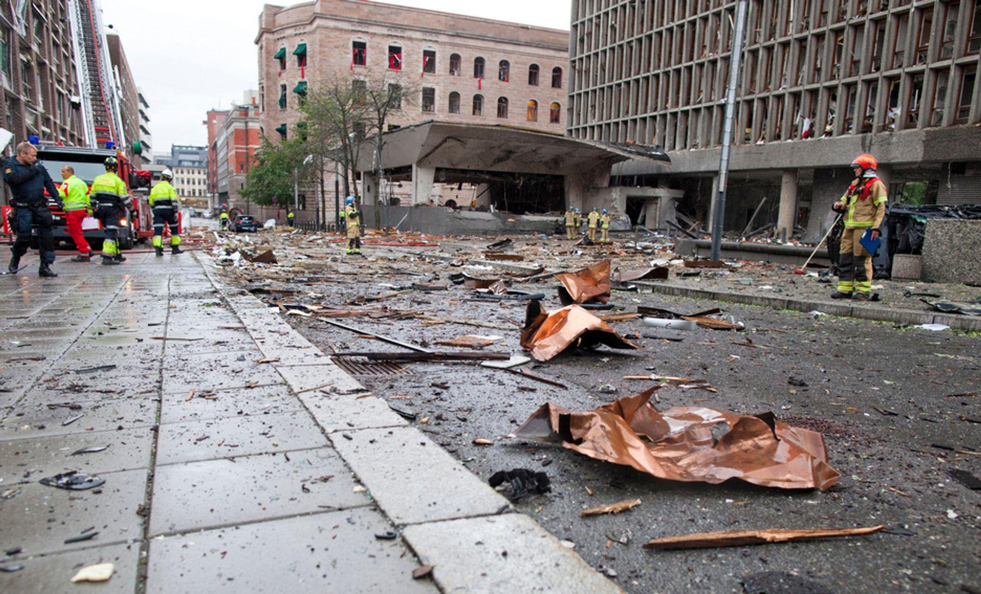 22.07.11: Rigmor Aasrud skylder ikke terrorangrepet på noen andre enn gjerningsmannen, men mener Oslo kommune må ta det fulle ansvaret for at Grubbegata ikke ble stengt for biltrafikk for flere år siden.