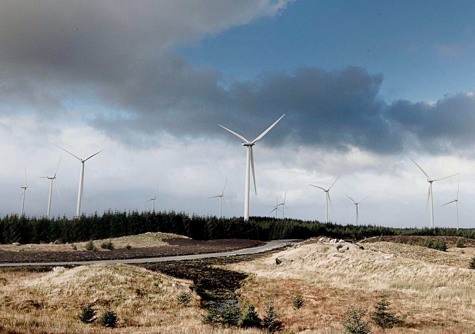 Høg-Jæren energipark produserer for tiden mest av alle vindparkene til japanske Eurus.