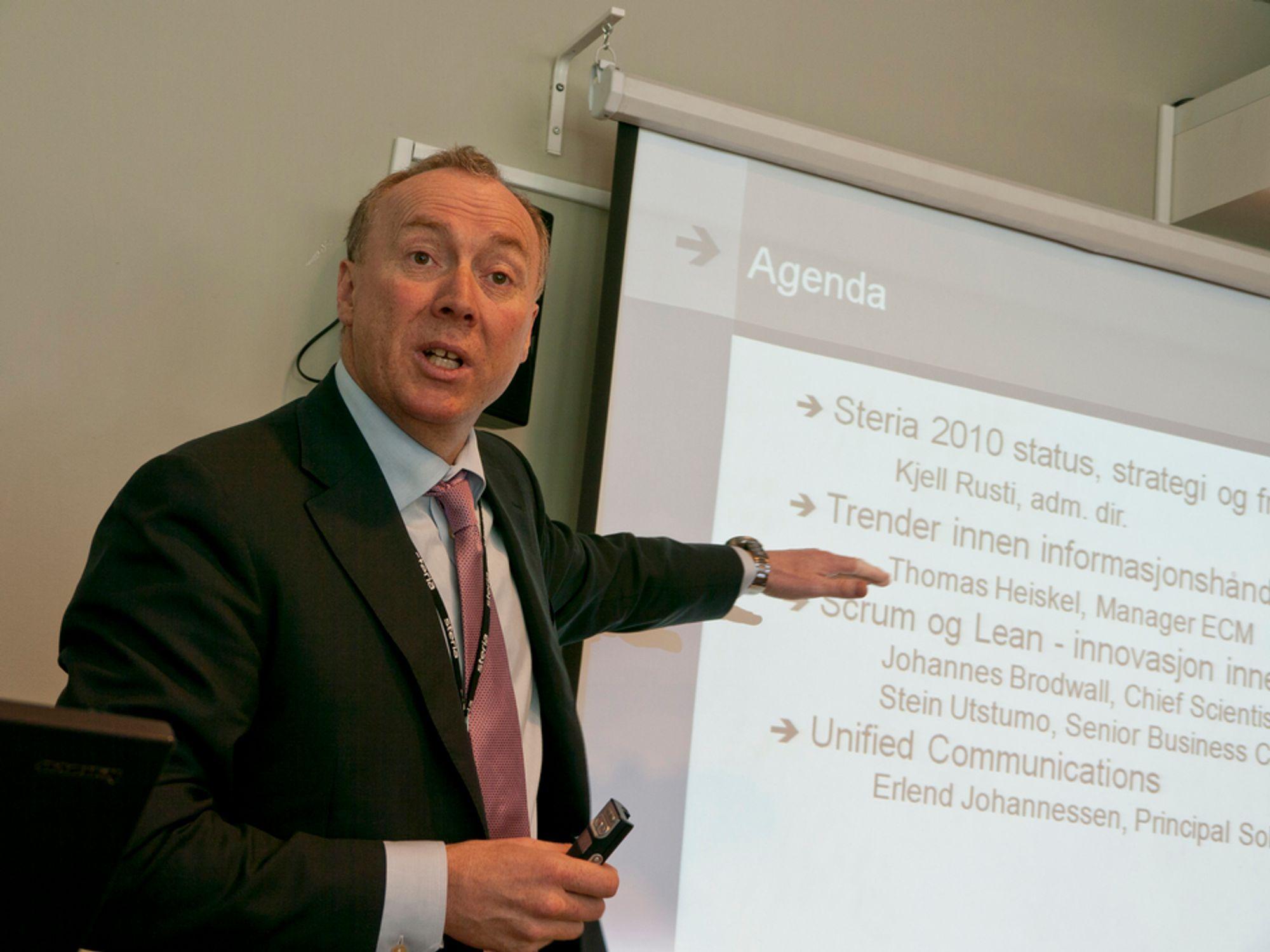 HØSTER: Steria-sjef Kjell Rusti høster en rekke offentlige it-kontrakter.