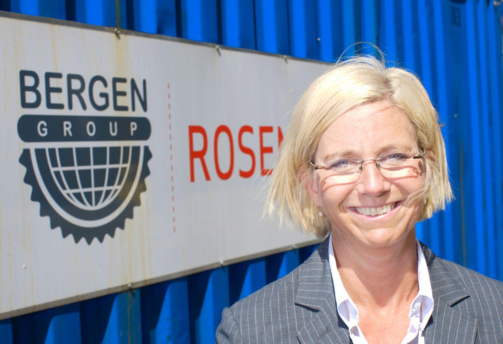 INDISK HJELP: Administrerende direktør Kristin Færøvik ved Bergen Group Rosenberg skal ansette flere ingeniører, men sikrer seg ekstar ressurser ved å samarbeide med indisk selskap.. Kvitebjørn-kontrakten og et marked i vekst sikrer mye arbeid.