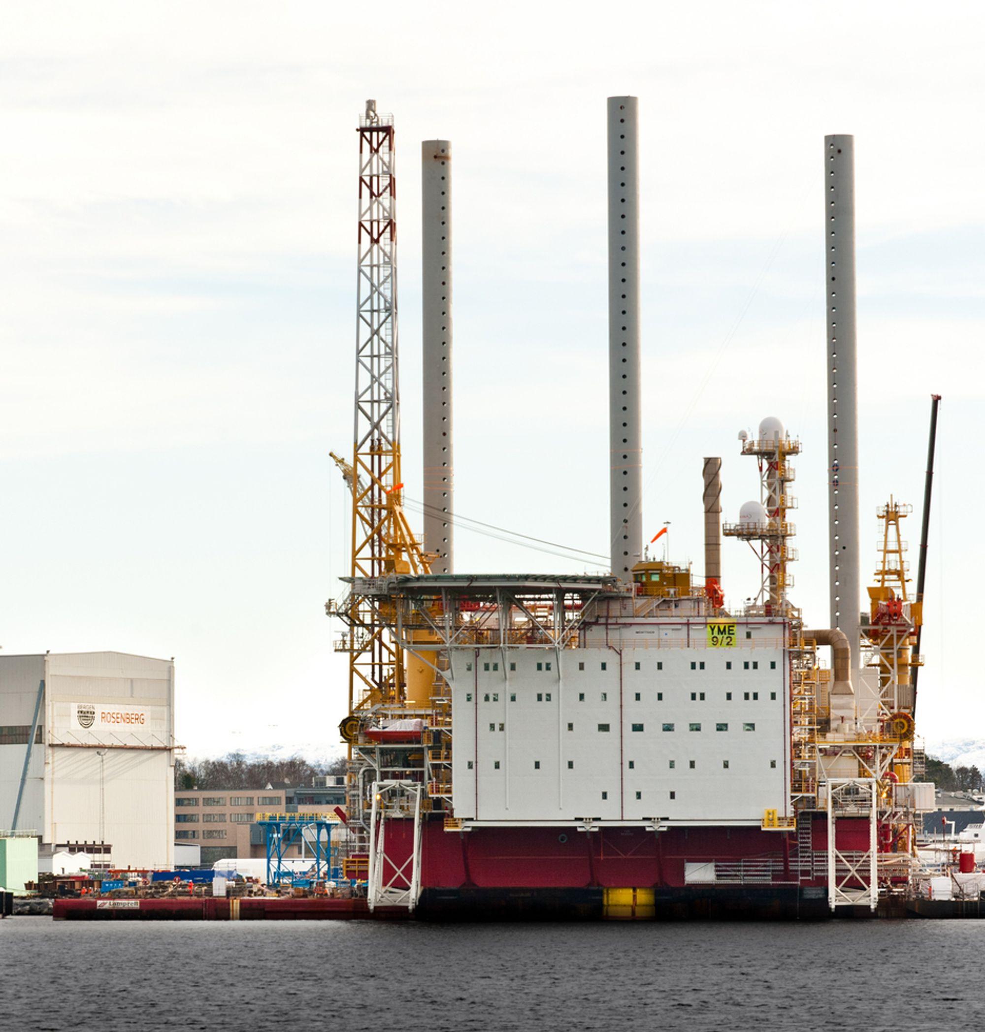 Det er store problemer med Yme-plattformen i Nordsjøen.