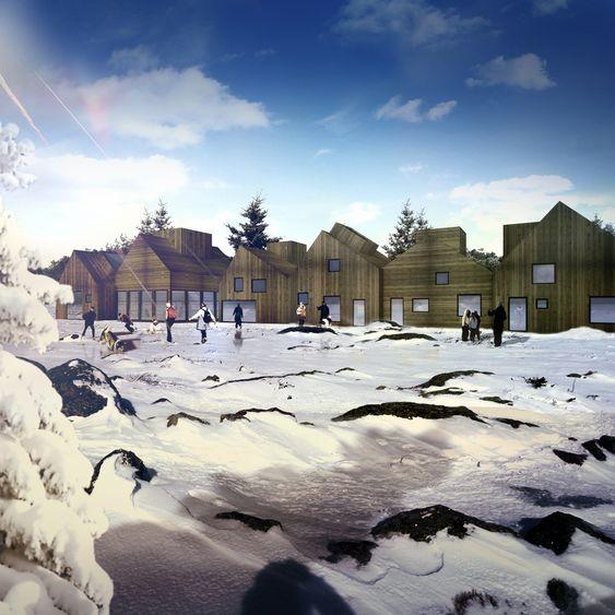 EKSPERIMENT: På Brøset vil arkitektonisk kvalitet gå hånd i hånd med et sosialt felleskapseksperiment,som vil gjøre Norge til et foregangsland i innsatsen mot klimatrusselen, mener danske Team SLA. De satser på utstrakt bruk av tre på Brøset.