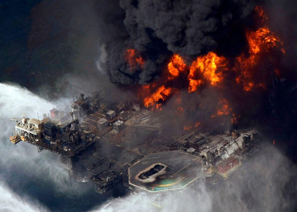 KATASTROFE: Riggen Deepwater Horizon eksploderte i april i fjor.