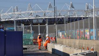 BILDESERIE: Olympisk byggeplass i London