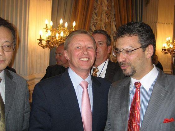Russlandsekspert: Ariel Cohen (t.h) sammen med tidligere visestatsminister Sergej Ivanov.