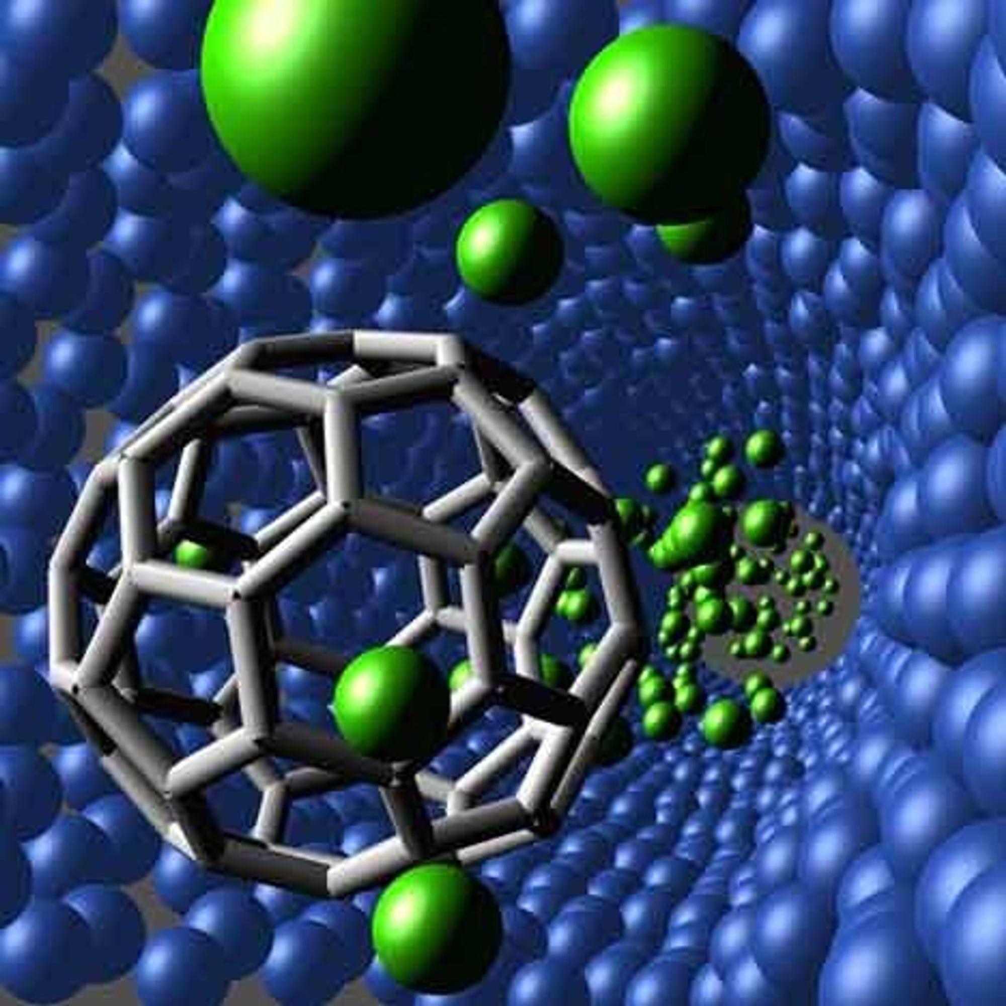 Nano-teknologien gjør det mulig å skreddersy katalysator. Ill. viser nanoteknologi og ikke den aktuelle katalysatoren. Ill: WWW.ORNL.GOV