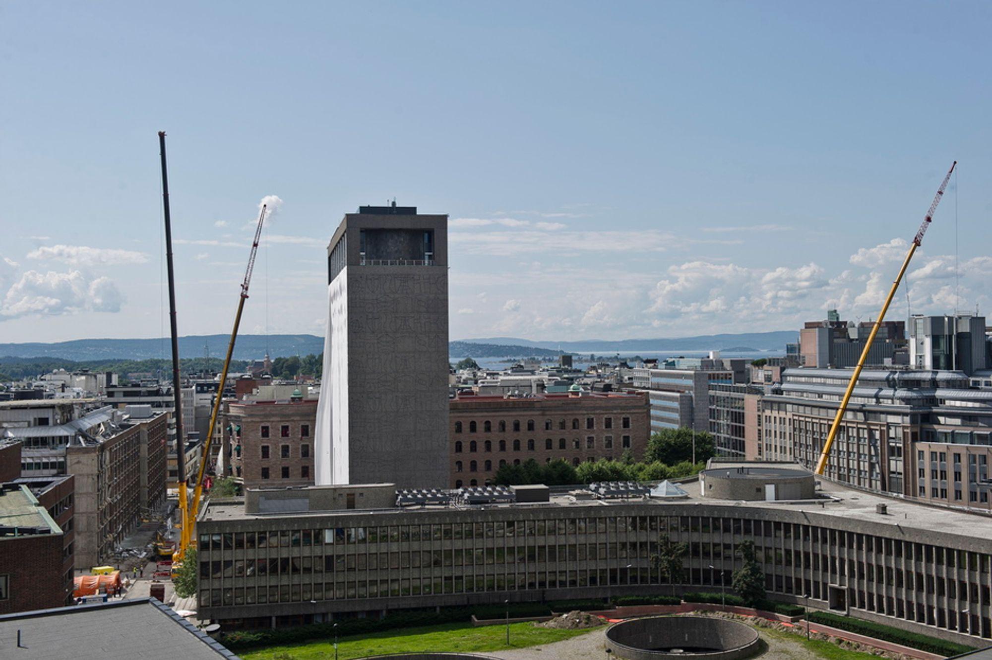Konstruksjonsskadene i Regjeringskvartalet vil ikke kunne vurderes før over jul.