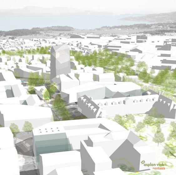 SAMSPILL: Asplan Viak foreslår et 10 års prosjekt for etablering av en ny bydel med. 4600 nye innbyggere.  Bydelen er beregnet for 1600 nye boliger samlet om en felles allmenning som utgjør bydelens energimessige og sosiale motor.