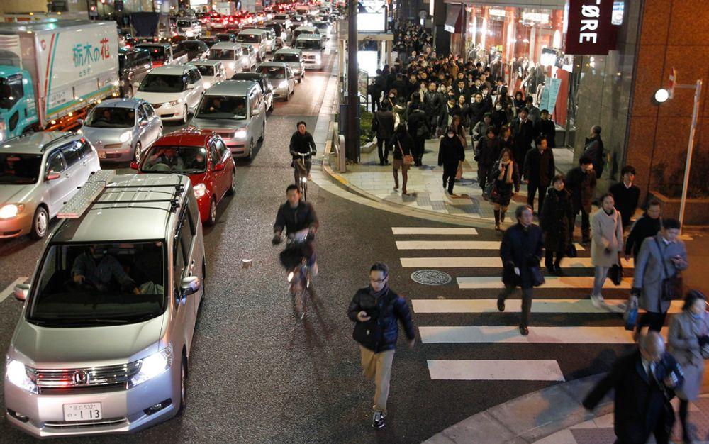 UT: Cisco Tandbergs kontorer her i Tokyo måtte evakueres etter naturkatastrofen i dag.