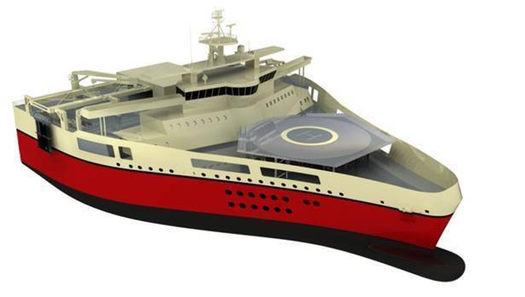 WOW: Ramform i W-klassen til PGS blir 104 meter lange og hele 70 meter brede. Skipene kan taue opp til 26 streamere samtidig.