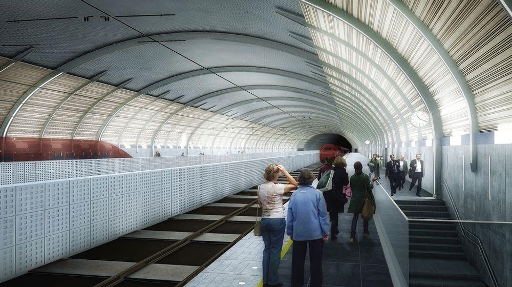 Nye Holmestrand stasjon skal stå ferdig i desember 2015, tilpasset en hastighet på 250 kilometer i timen.