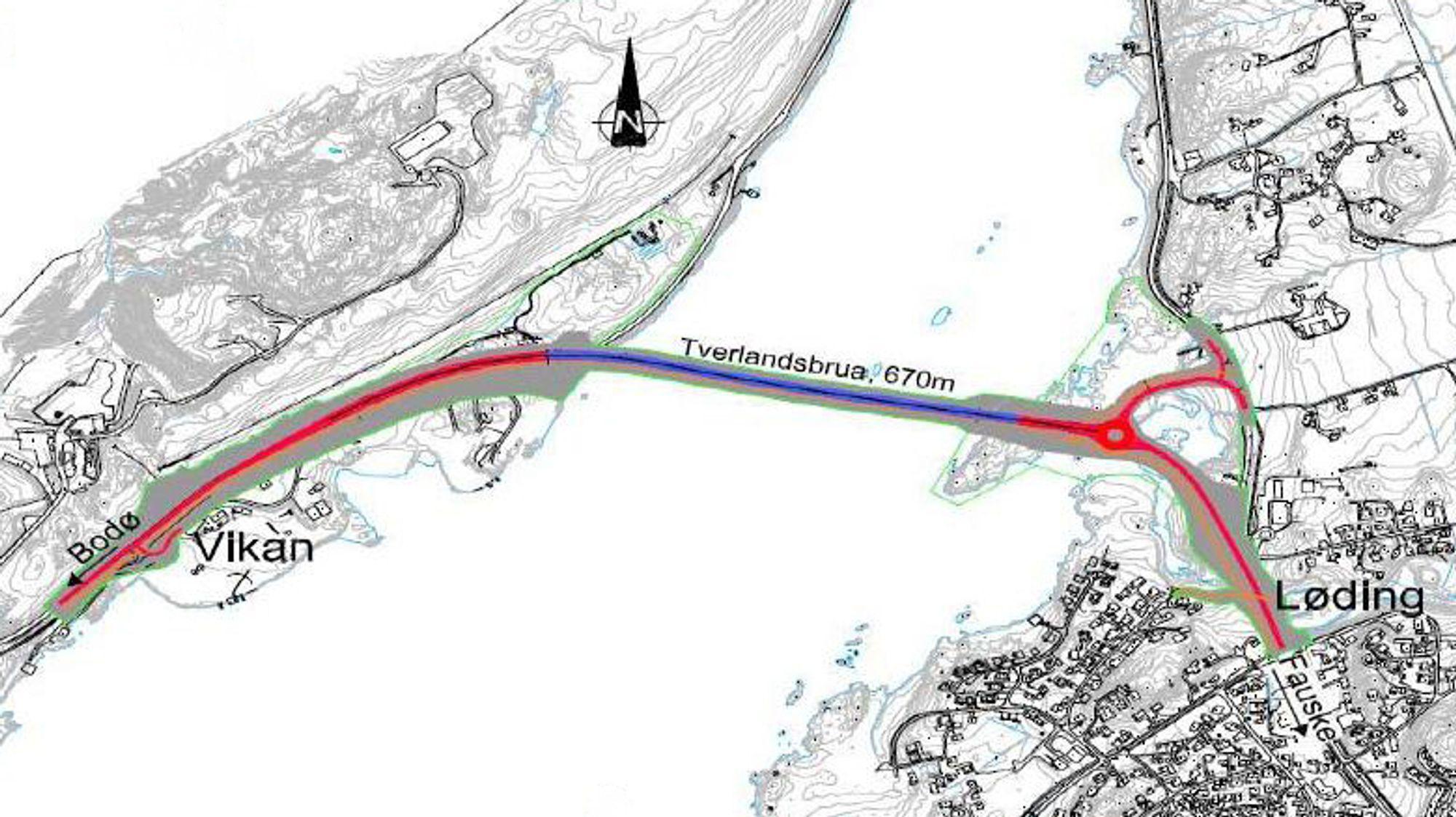 De røde linjene markerer vegene som inngår i vegentreprisen. Mye skal skje hvis ikke kontrakten går til M3 Alegg.