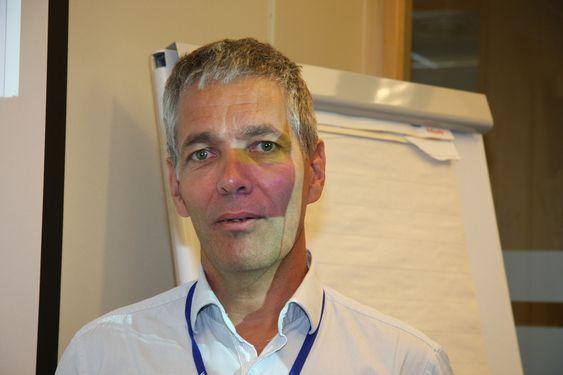 FRAMTIDA: Sverre Gotaas i  Kongsberg Gruppens ledelse mener konsernet må investere i isforskning med tanke på framtidige markedsmuligheter.