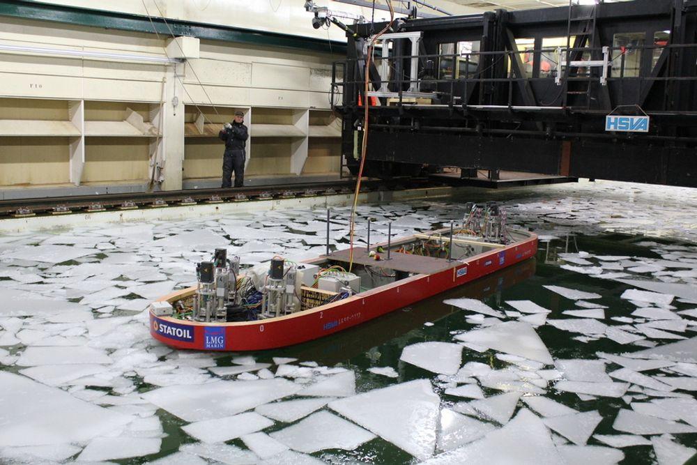 UTEN MØNSTER: Is i Pechorahavet forflytter seg raskt og uten et forutsigbart mønster.