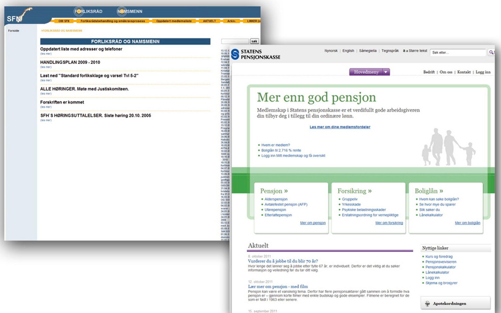 BEST OG DÅRLIGST: Difi har rangert de offentlige nettsidene i Norge. Det skorter på tilgjengelige nettsteder, mener Blindeforbundet.