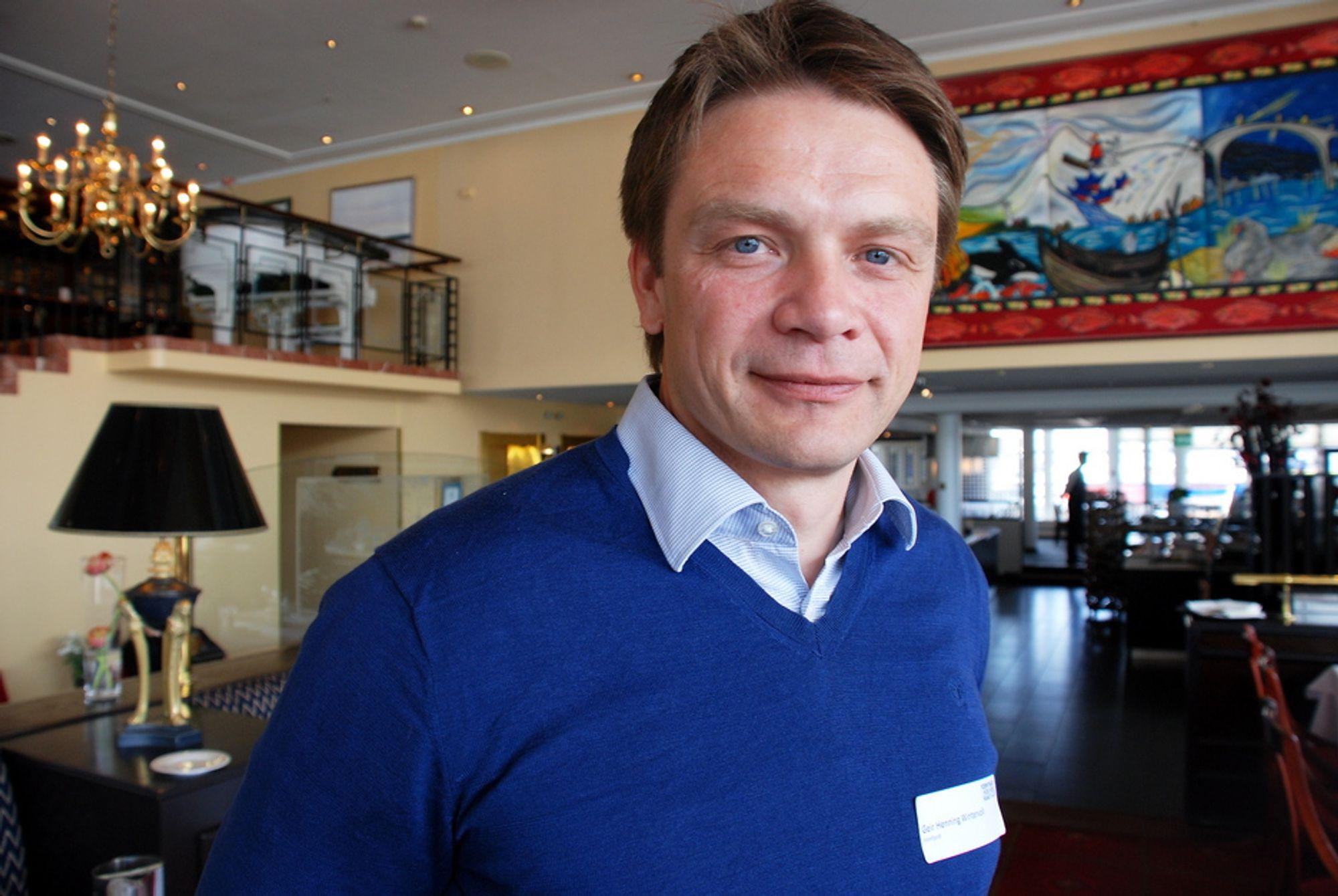 Administrerende direktør Geir-Henning Wintervoll i Finnfjord AS sier energigjenvinningsanlegget hans er konfliktfri kraft som er et drømmecase å fronte.