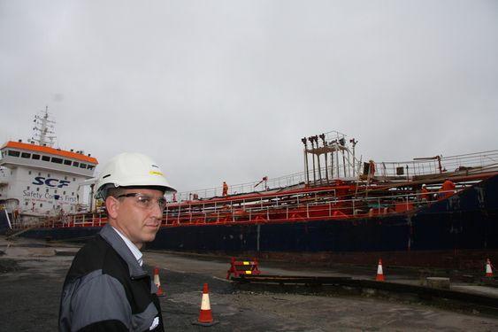 VARSLET: HSM og kvvalitetsansvarlig ved Oleon, Erik Røyeng, reagerte da DVS og skipet ikke hadde god nok sikerhetsplan før lastingen skulle begynne 9. augst.