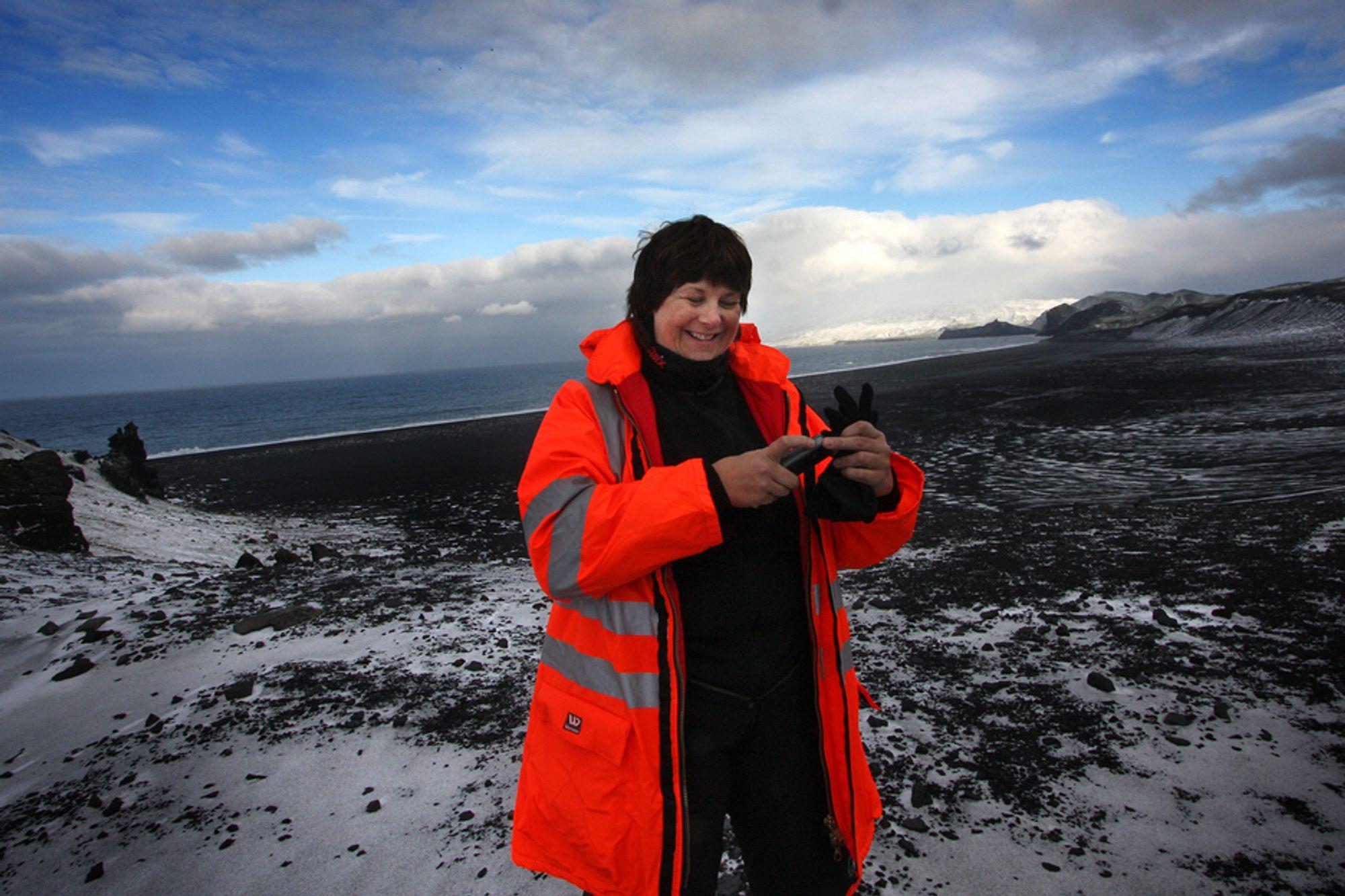 Direktør i Oljedirektoratet Bente Nyland inspiserte Jan Mayen allerede i 2009.