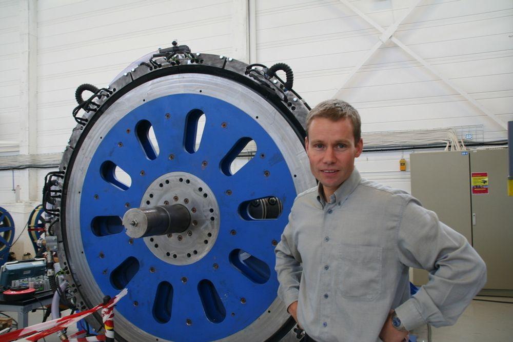 STORT POTENSIAL: - Sway Turbine er blant de norske prosjektene innenfor fornybar energi som har det største globale potensialet, sier direktør Ståle Svenning i SmartMotor.