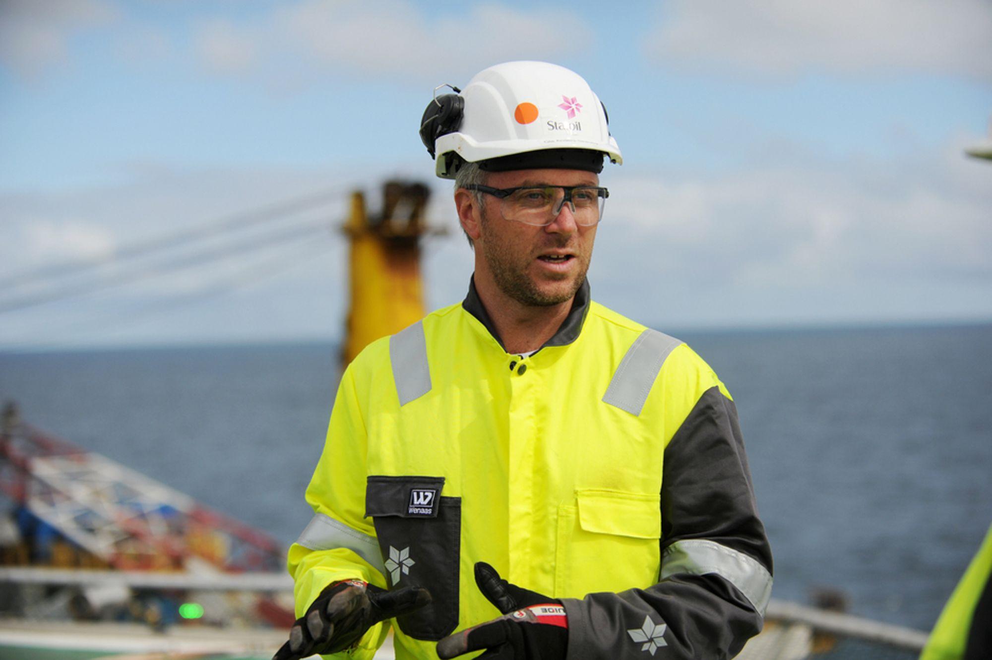 Pressetalsmann Ola Anders Skauby er godt fornøyd med Statoils leteresultater.