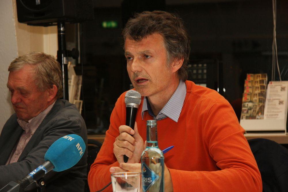 VIL RIVE: Erling Fossen hadde ikke et eneste pent ord å si om høyblokka i regjeringskvartalet.