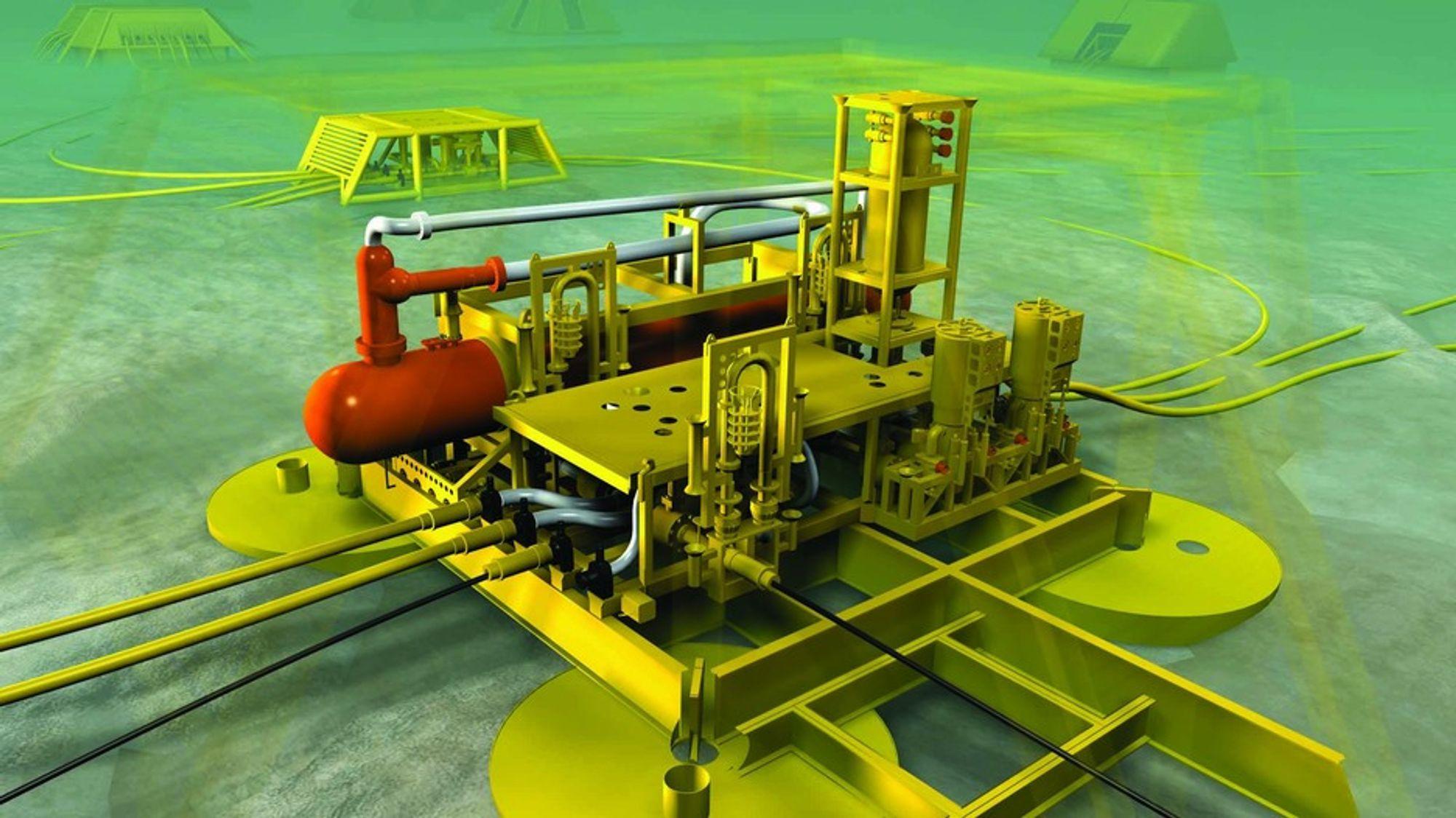 SEPARERES: Separasjonsutstyr fra FMC Kongsberg Subsea på Tordis-feltet.