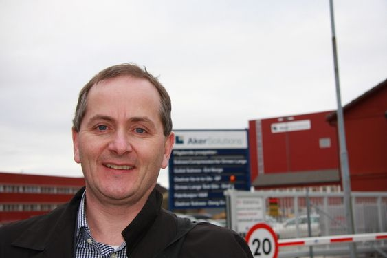 NEDSKALERER: Direktør Knut Nyborg i Aker Solutions har ansvar for power, process & boosting og ledet arbeidet med Åsgard-tilbudet. Han tror det er letter åe nedskalerer fra Åsgard og lage standarder enn å gå motsatt vei.
