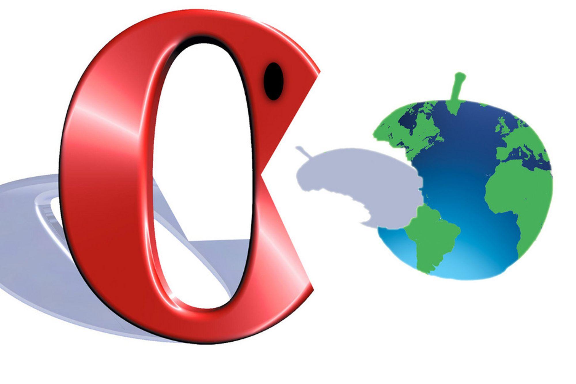 PLANET OF THE APPS: Opera Software spiser seg oppover listen over  verdens største mobil-app-forhandlere, riktignok godt etter de to store: Apples App Store og Googles Android Market.
