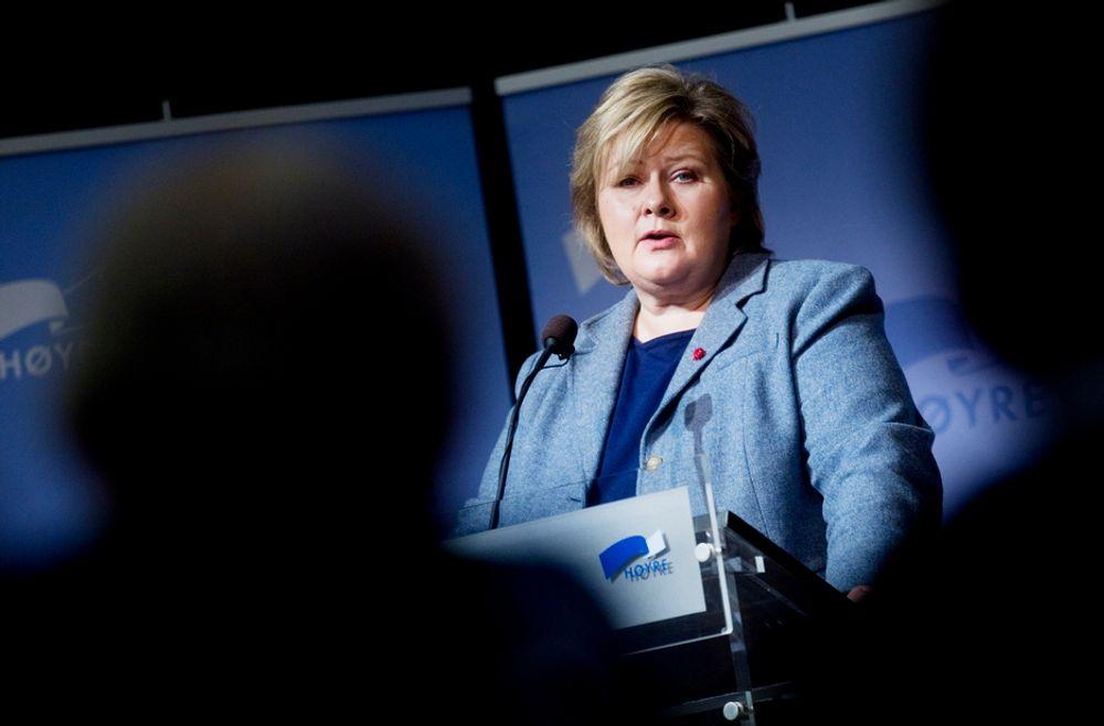 DÅRLIG LØSNING: - Et kompromiss om Lofoten vil bli problematisk, sier Høyre-leder Erna Solberg til Teknisk Ukeblad.