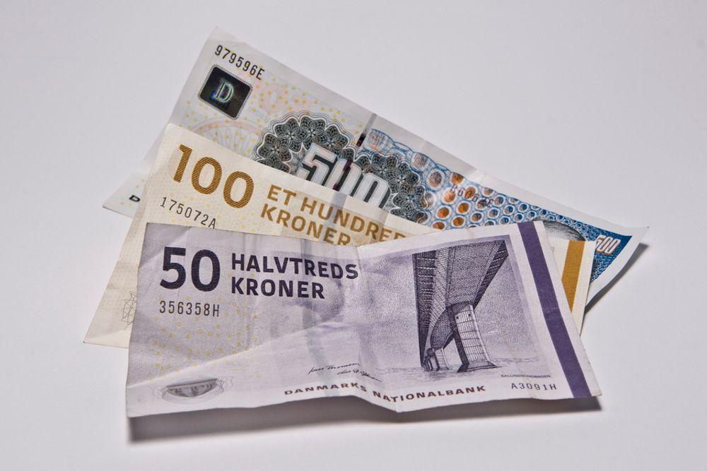 FORTSETTER: Danskene beholder sin merkverdige tellemåte, også på sedlene. Her på 50-lappen - eller halvtreds-lappen, som de kanskje sier?
