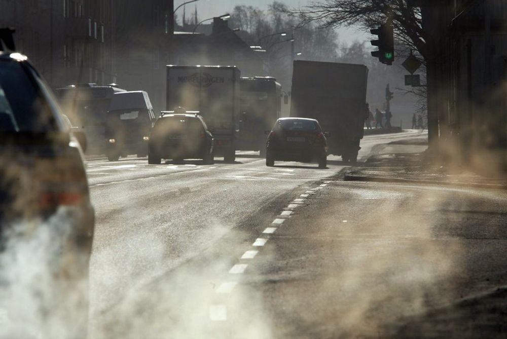 KARTLEGGER SVEVESTØV: Statens vegvesen og Moss kommune har satt opp to målestasjoner for overvåking av svevestøv i Moss sentrum. (Illustrasjonsfoto)