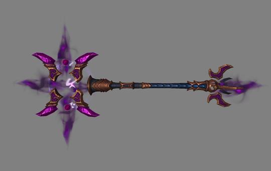 Du beholder det samme våpenet gjennom hele utvidelsen. Denne staven heter Aluneth.