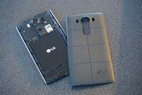 Litium-ion-batterier er vanlig å bruke i mobiltelefoner. Her vist ved LG V10.