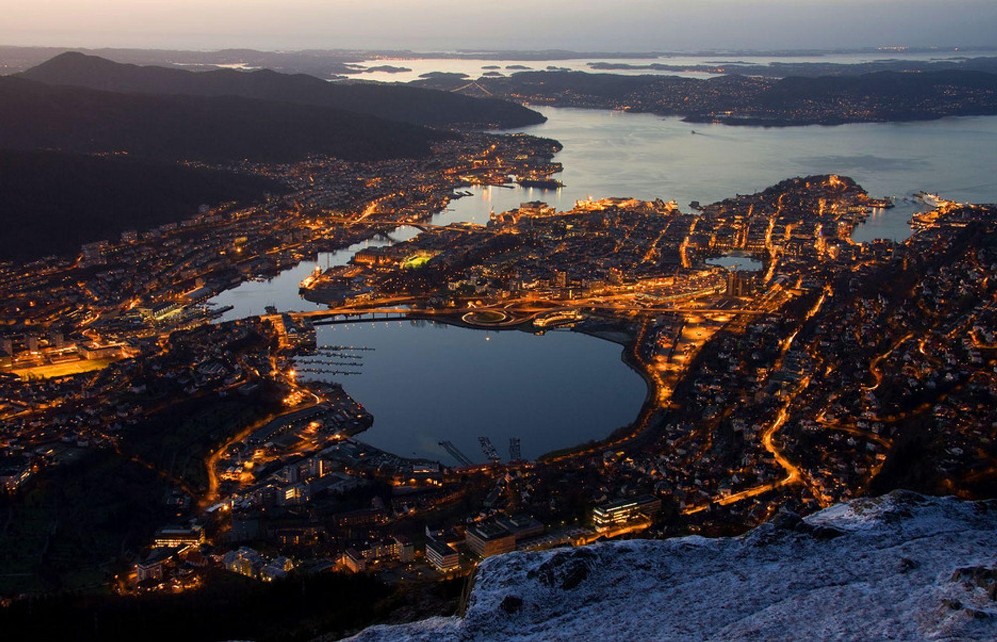 SNART TOMT: Bergen kommune vurderer restriksjoner på vannbruken, etter den tørreste vinteren siden 1949. De frykter vannkrise allerede før påske.