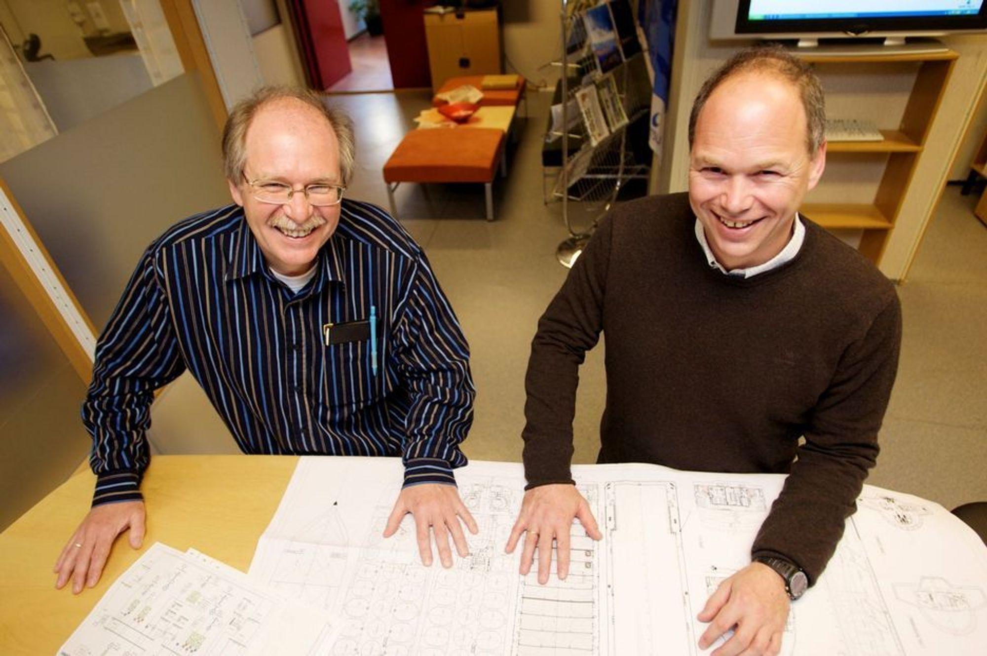 SMARTE: Wärtsilä Ship Power på Stord med Svein Djuve (t.v) og Egil Hystad i spissen har utviklet Low Loss-konseptet som sørger for effektiv utnyttelse av motorkraften i diesel-elektriske framdriftssystemer.