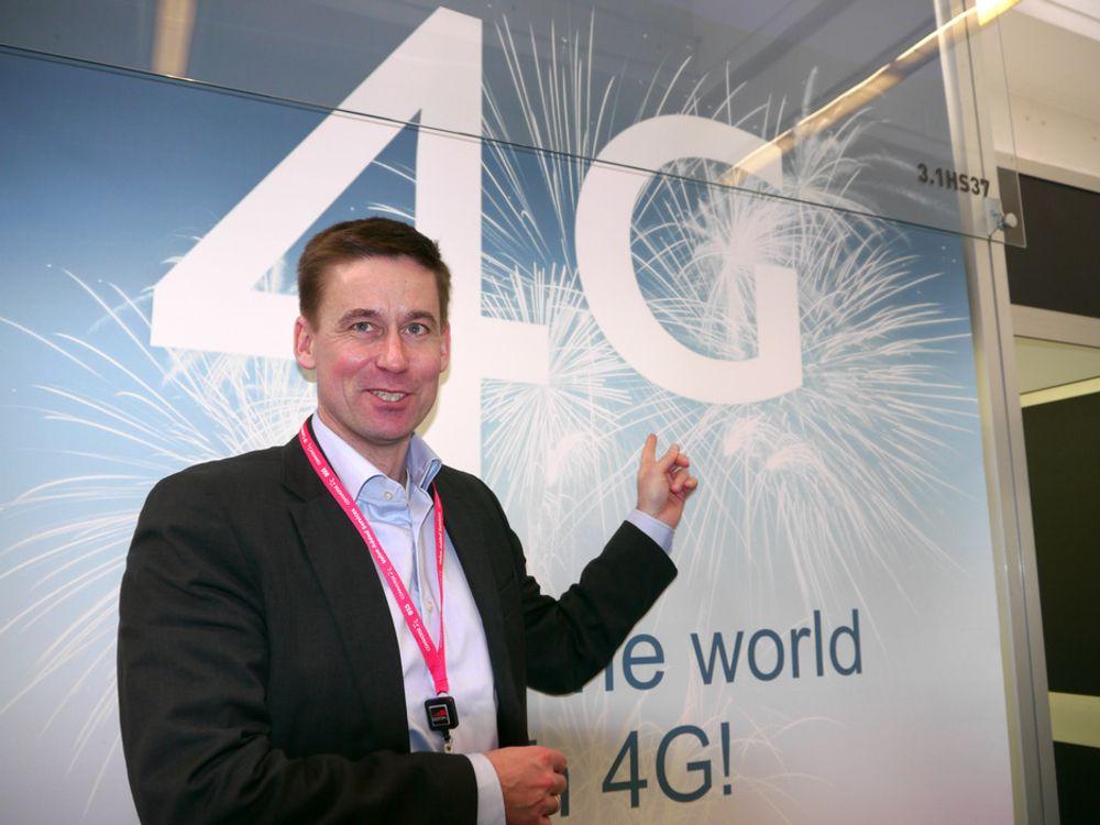 FØRST PÅ 4G:Det ser ut som om Netcomsjefen får ha 4G for seg selv i Norge lenge, men han ville gjerne sett at Telenor kom raskere med sitt nett. Det ville gi drahelp og oppmerksomhet om fordelene.