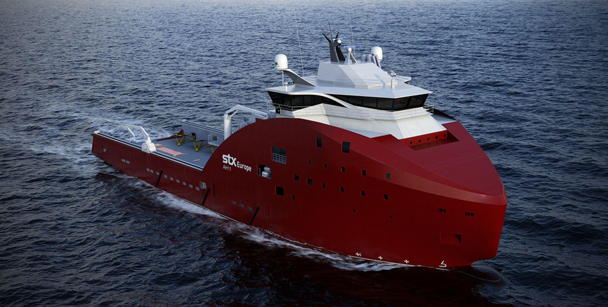 TIL BRASIL: Scana Volda skal levere gir og propellutrustning til de to skipene Norskan har bestilt i fra STX Europe i Brasil