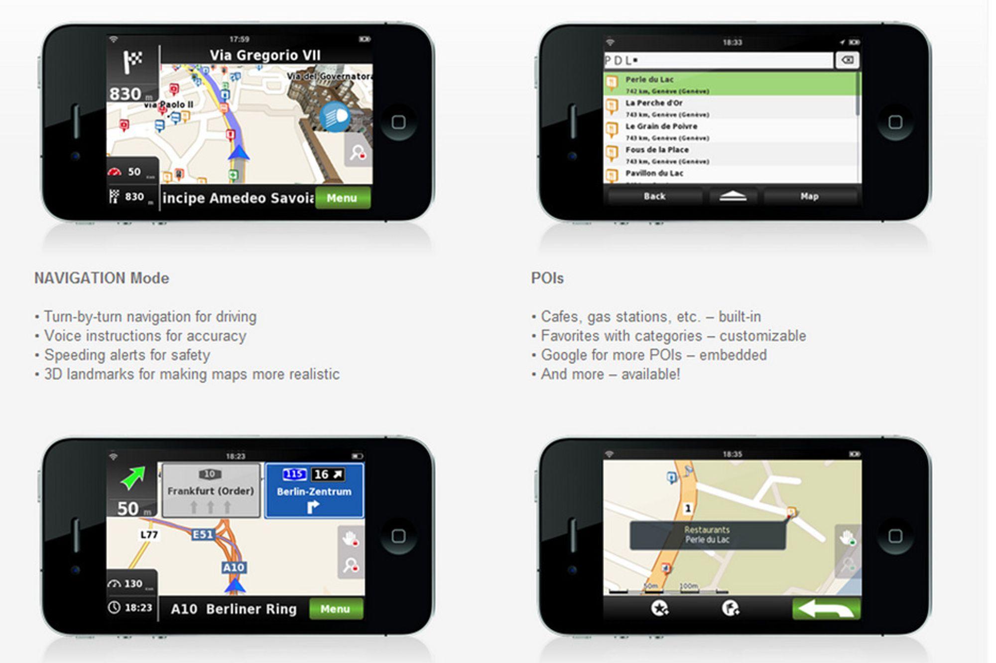 NAVVs iPhone-navigasjon koster en tiendel av hva for eksempel TomToms variant koster.