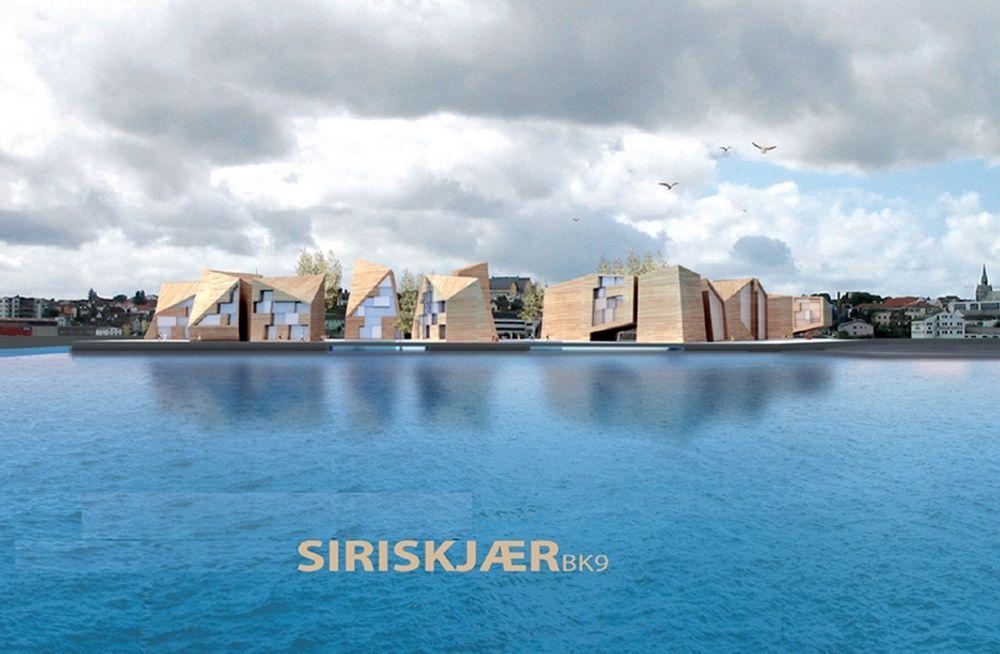 Siriskjær boligfelt i Stavanger, 150 leiligheter med krav om utstrakt bruk av tre.