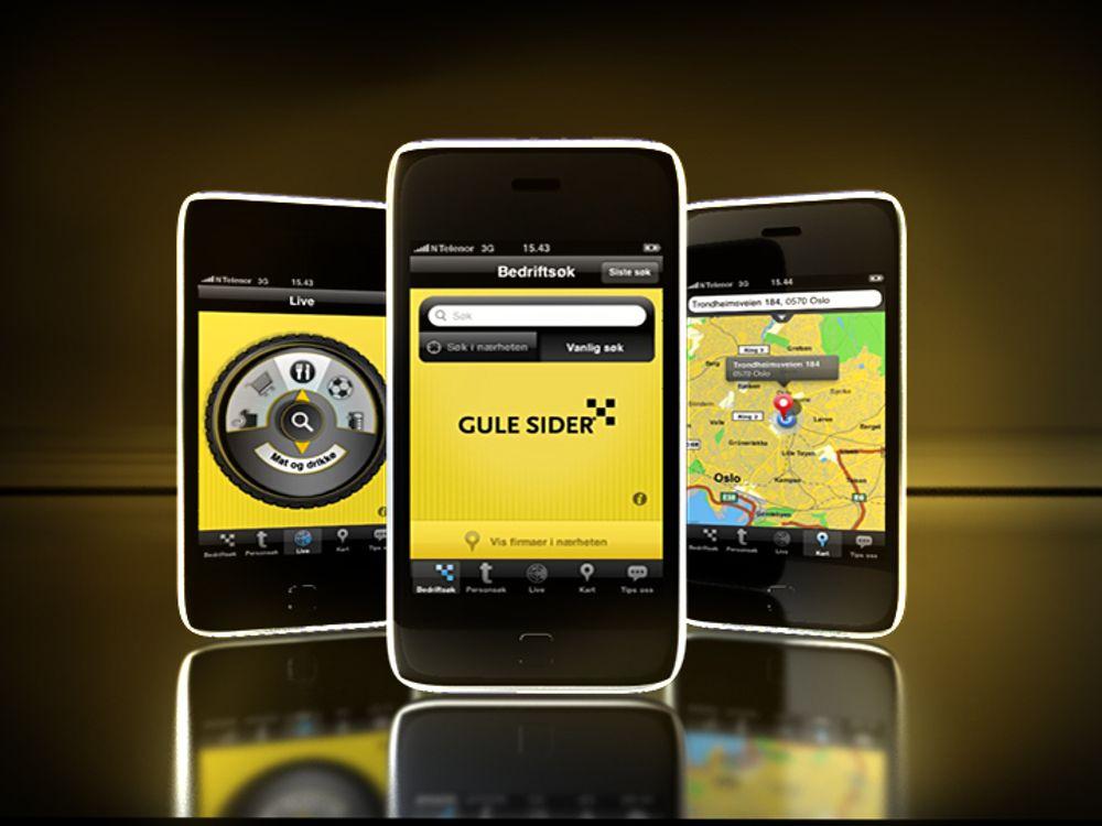 Eniros Gule Sider-applikasjon til mobiltelefon vant europeisk pris forrige uke.