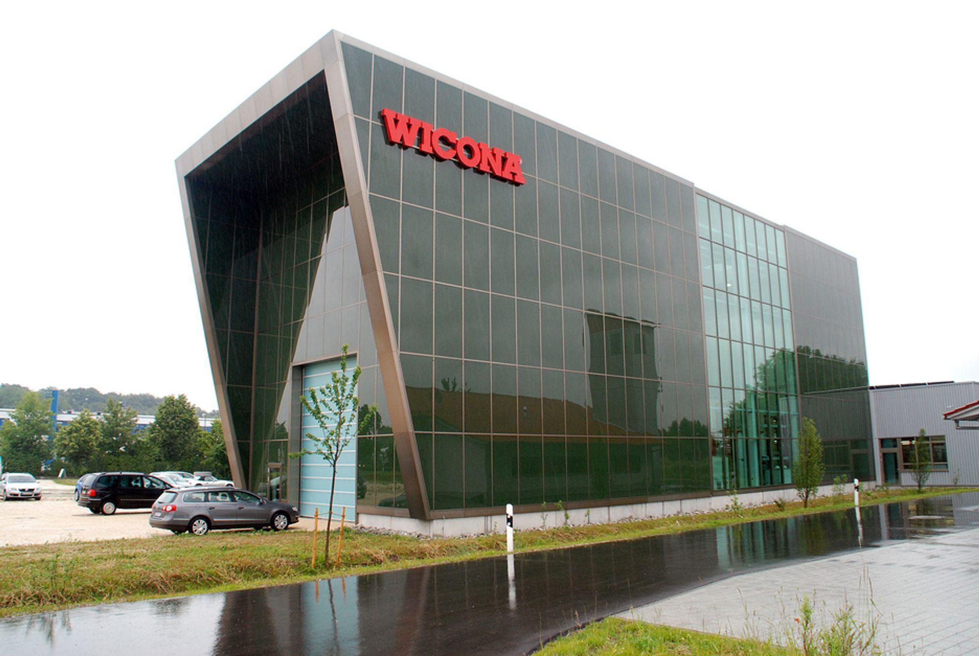 PLUSSBYGG: Hydros Wicona testsenter i Tyskland er selskapets første plussbygg: Et bygg som produserer mer energi enn det bruker.