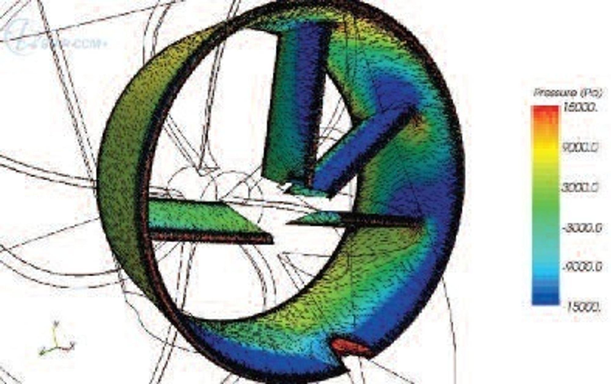 ENKELT: En dyse med finner - to oppfinnelser slått sammen. Hver enkelt Mewis Duct må skreddersys skipet det skal plassres på.