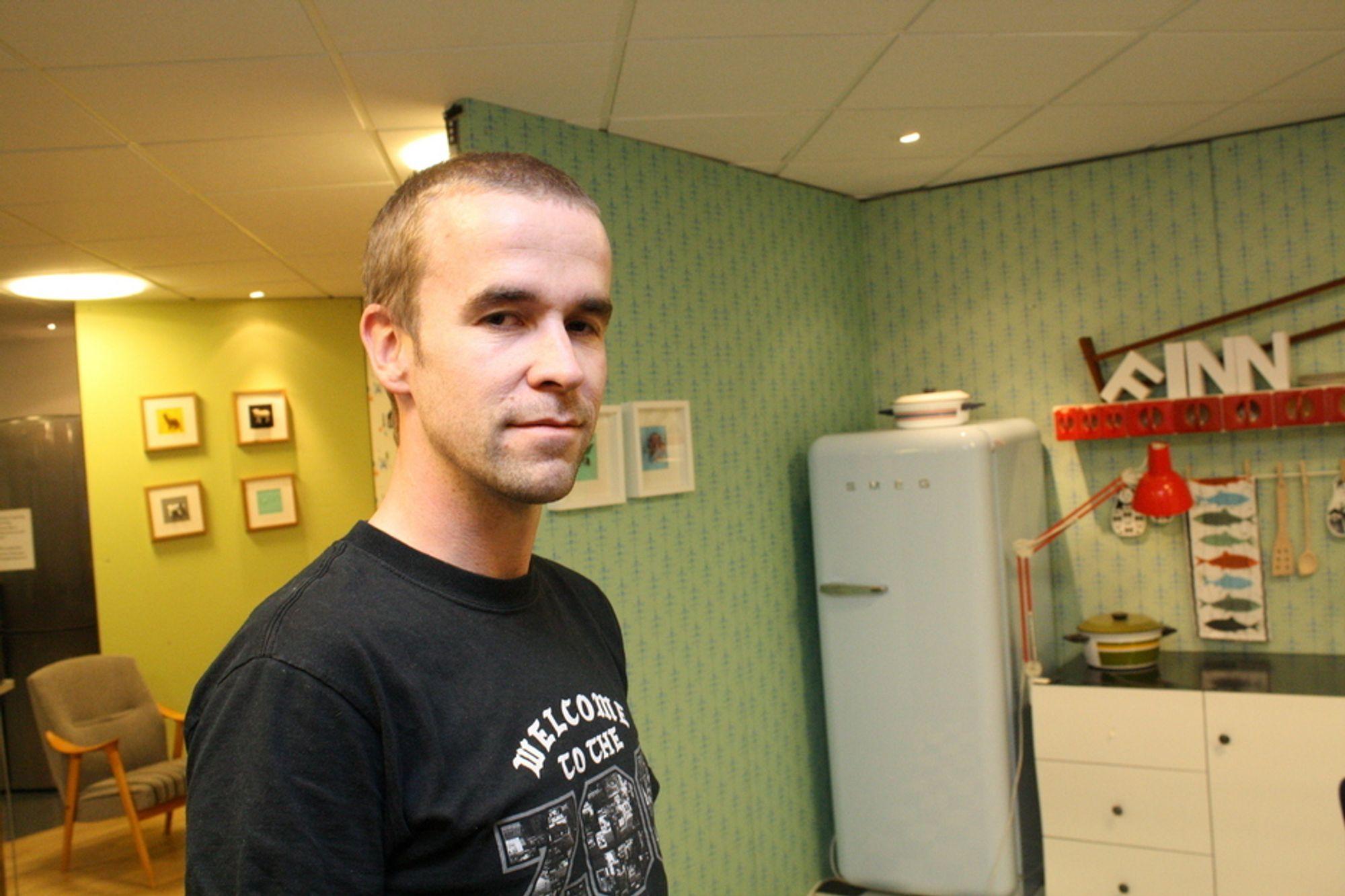 DELER GJERNE FLOPP-ERFARINGER: Espen Dalløkken (33) jobber i dag i Finn.no, men har ingenting imot å skru tiden tilbake til da gründerprosjektet hans gikk ad undas.