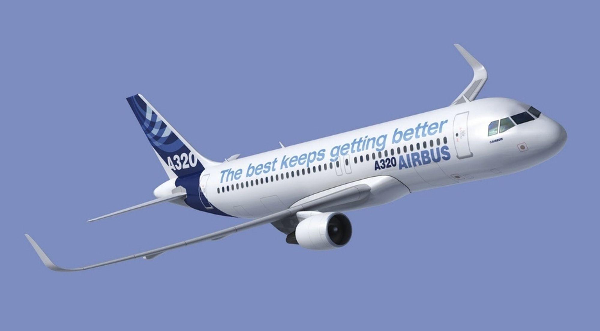 Airbus A320 kommer med oppoverbøyde vingetupper (sharklets) om et par år. Og fra 2016 skal passasjerflyet tilbys med nye motorer.