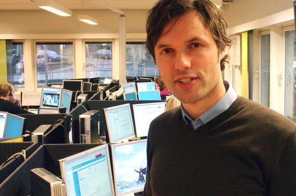 RASKT: Skandiabanken og informasjonssjef Johnny Anderson opplever at kundene har vært kjappe til å ta i bruk BankID.